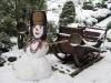 Снежная Баба и сани