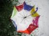 Собираем остатки снега... и косой, и зонтом... Перфоманс в саду
