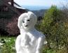 Из последних горстей снега случайно получился почти автопортрет